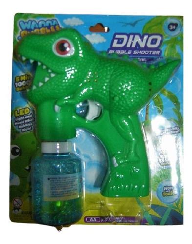 Dinosaurio Pistola Luz Sonido Crea Burbuja 4 Añosamas