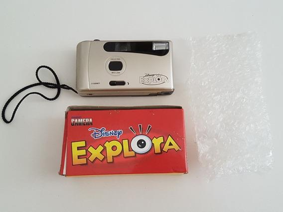 Antiga Compact Câmera Disney Explora