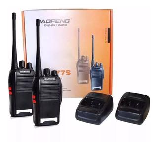 2 Radio De Comunicação Ht Uhf Vhf 16 Canais Antena 12km 777s