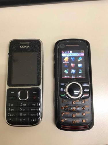 Celular Motorola Nextel E Celular Nokia C2 Com Defeito