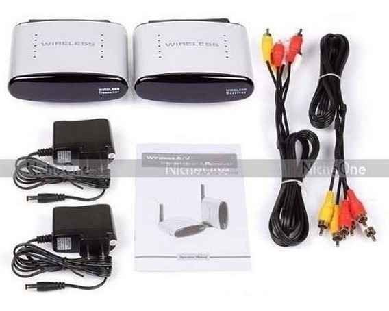 Transmissor Wireless Tv Full Hd Receptor S/ Fio 2,4 Ghz +bar