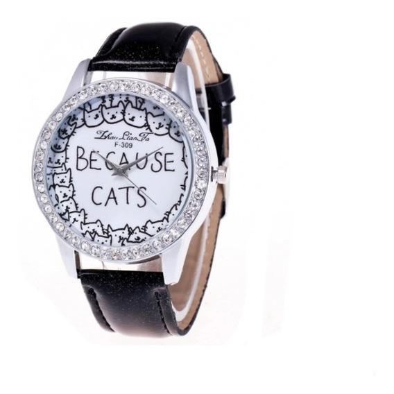 Reloj Gato Cute Kawaii Unisex Anime Cat Pulcera Gatito 1