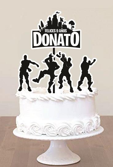 Cake Topper Pincho Personalizado Adorno Torta Fortnite