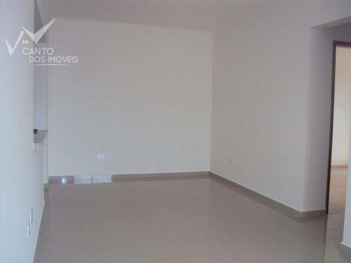 Imagem 1 de 19 de Apartamento Com 2 Dorms, Canto Do Forte, Praia Grande - R$ 450.000,00, 84,3m² - Codigo: 365 - V365