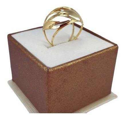 Especial! Anel Feminino Em Ouro 18k Top Luxo Festa 4388