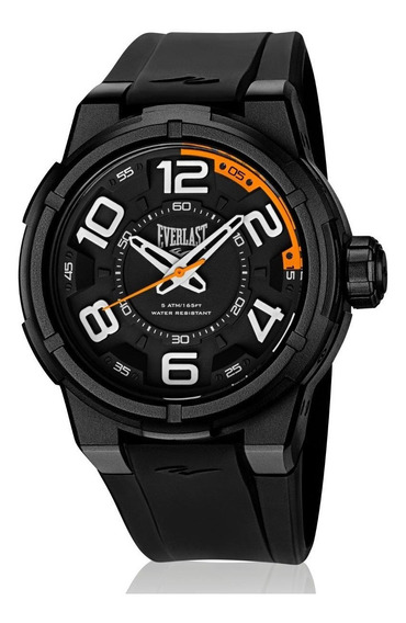 Relógio Pulso Everlast Masculino Esporte Silicone Preto E688