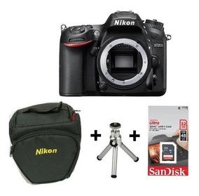 Câmera Nikon D7200 Dslr (corpo) + Sd 32gb + Bolsa +minitripé