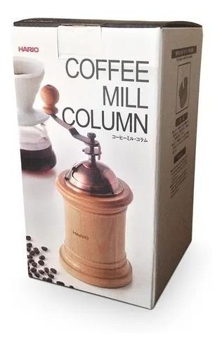Imagem 1 de 4 de Moedor De Café Hario Madeira Coffee Mill Column Manual 40g