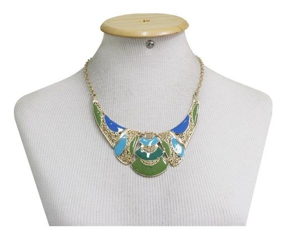 Max Colar Ludmila-tendência-verde/azul/bege/vermelho