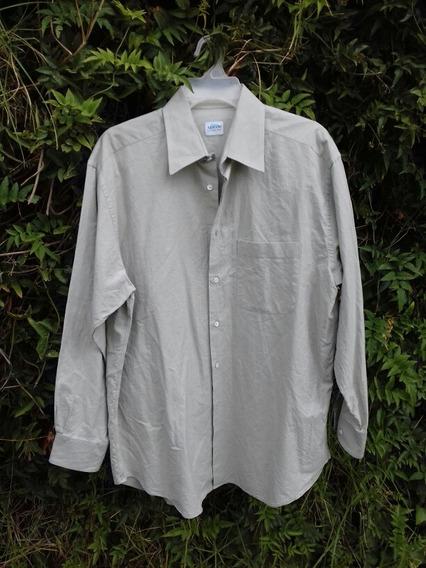 Camisa Armani Oferta Colezzioni Original Beige Caballero