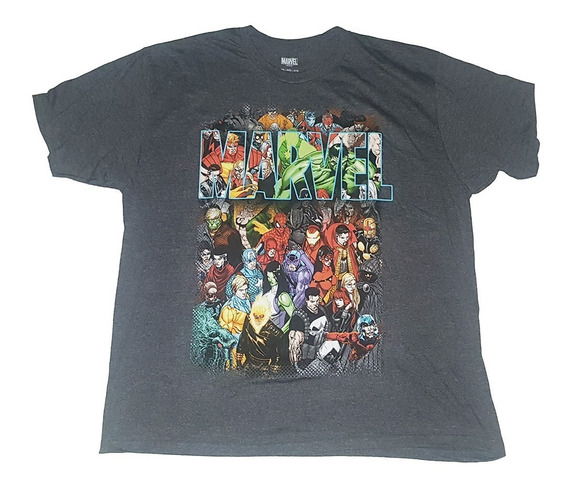 Remera Marvel Comics Personajes Original Xxl Importada Nueva