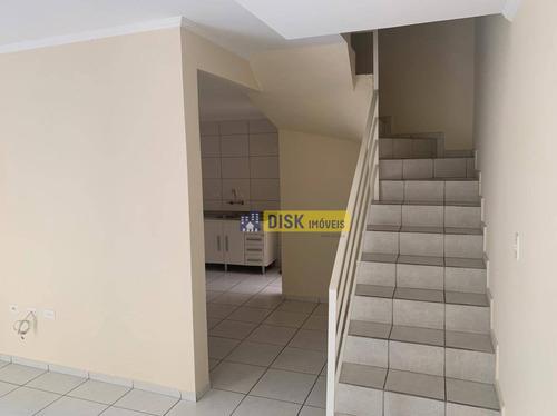 Sobrado Com 3 Dormitórios À Venda Por R$ 390.000,00 - Jardim Stella - Santo André/sp - So0661