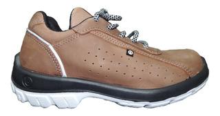 Zapato Zapatilla Bladi Boris Seguridad Trabajo Cuero Liviano Tipo Funcional Calzado Respirable Homologado Quilmes