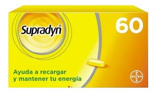 Supradyn Bayer 60 Comprimidos Vitaminas Minerales Energía
