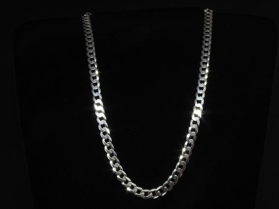 Corrente Masculina Italiana Grumet Em Prata 925 Maciça 70 Cm