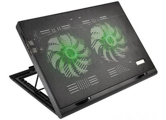 Power Cooler Gamer Para Notebook Multilaser Com Led Verde