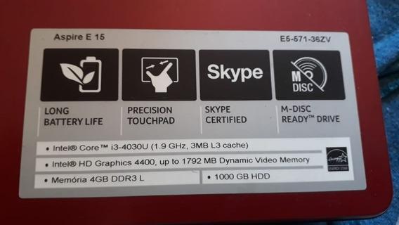 Notebook Acer I3 4030u Aspire E15