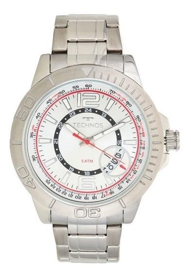 Relógio Technos Masculino Prateado 2117lah/1b