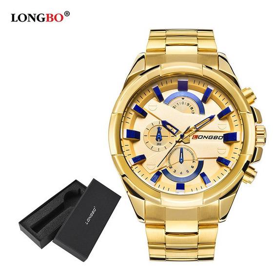 Relógio Homens De Negócios Alta Qualidade Longbo Inoxidável