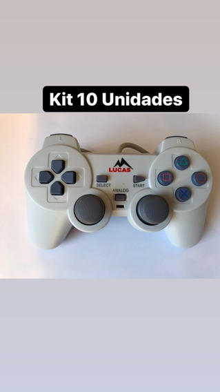 Kit 10 Unidades Controle Playstation 1