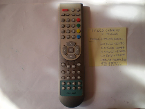 Control Remoto Tv Lcd / Pantalla Plana Hyundai Y Cyberlux