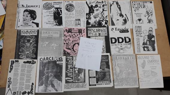 Fanzines Anos 90 18 Exemplares Sobre Rock Cultura E Anarquia