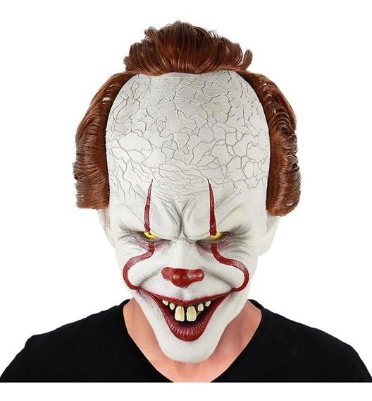 Máscara Latex Payaso It Malo Asesino Disfraz Halloween