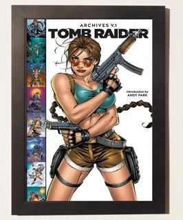 Quadro Poster Com Moldura Lara Croft Tomb Raider Hq Comix