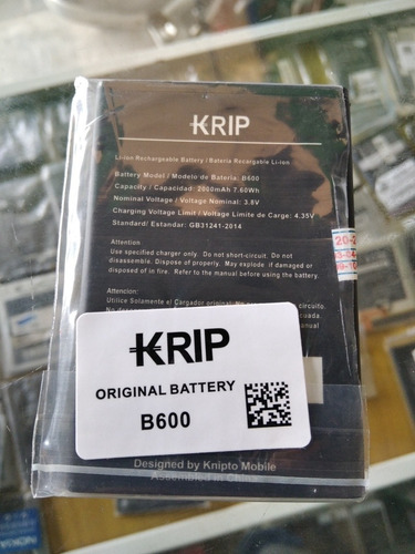 Batería Pila Krip K6  Modelo B600 Original