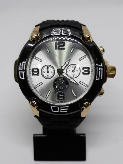 Relógio Masculino Importado Prata/dourado Analógico