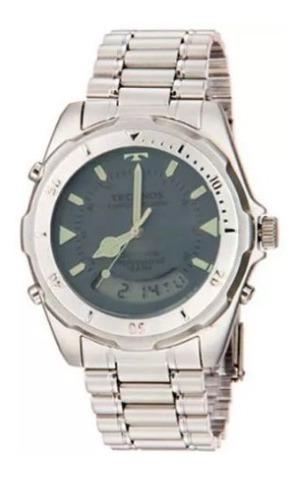 Relógio Masculino T20547 Anadigi Aço Escovado Fosco Technos