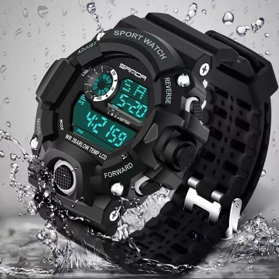 Relógio Sanda Militar Resistente A Água Sport Cores