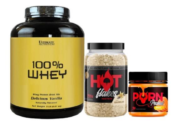 Kit 100% Whey 2,27kg + Flakes 700g + Pasta 1kg - Ultimate