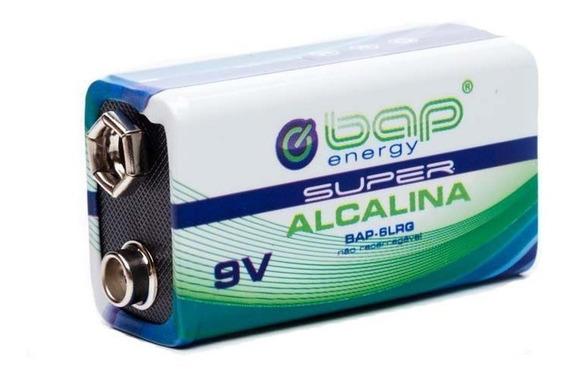 Bateria 9v Super Alcalina Bap Energy + Nf!