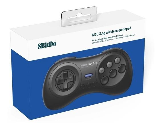 Controle 8bitdo Sem Fio M30 + Adaptador P/ Mega Drive, Novo!