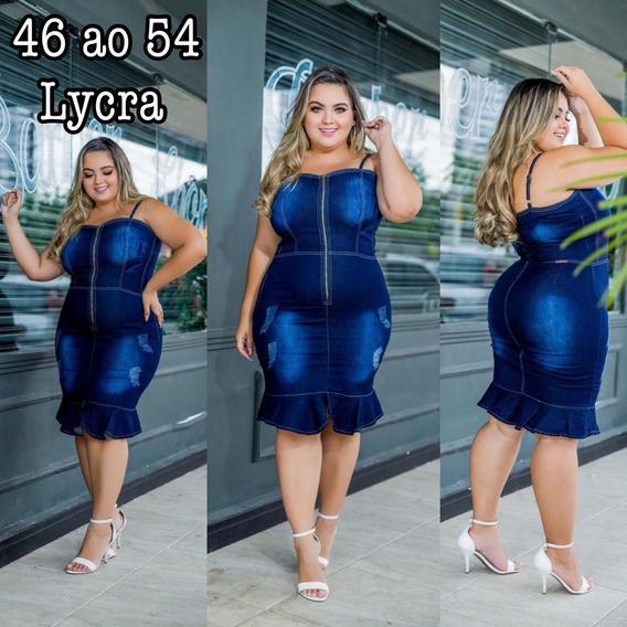 Vestido Jeans Plus Size Do 40 Ao 54 @onplusmodasoficial