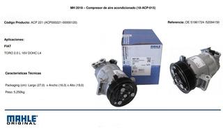 Compresor Aire Fiat Toro Jeep Renegade Original Mahle
