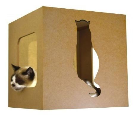 Nicho Para Gatos Cat Box - Gato De Costas - Amarelo