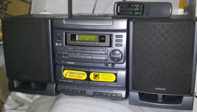 Som Aiwa Ca-dw480 Cd Rádio Duplo Cassete Controle Seminovo