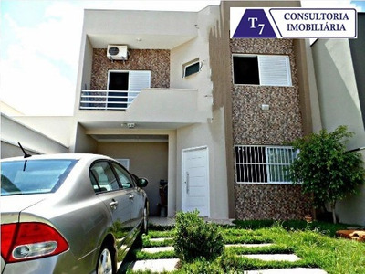 Linda Casa Jardim Montreal Residence Em Indaiatuba, Condomínio Fechado - Ca01469 - 32387662