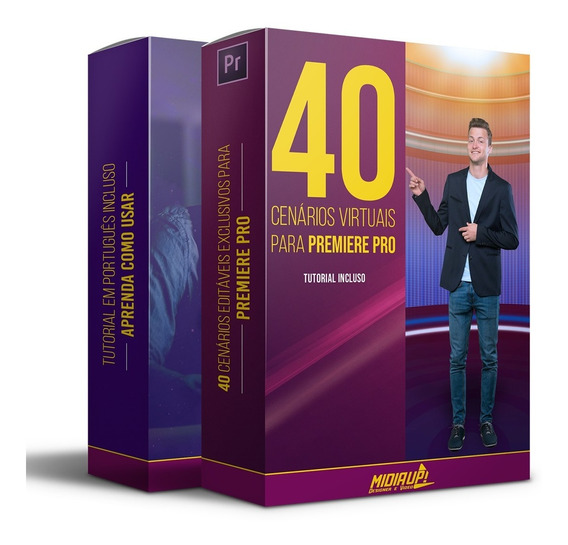 40 Cenários Editáveis Para Premiere Pro Full Hd + Tutorial