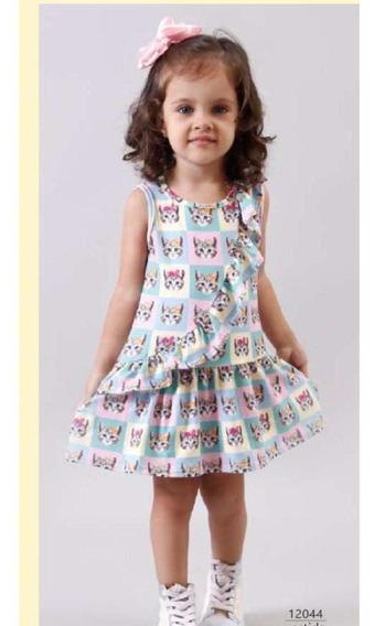 Vestido Gatinho Malha Bambollina