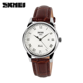 Relógios Pulseira Couro Genuíno Skmei 9058 A Prova D