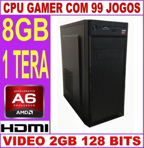 Cpu Gamer Barato + 99 Jogos 3.8 Ghz Hd 1 Tera 8gb Video 2gb