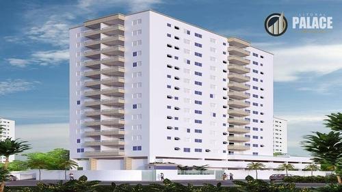 Apartamento Com 2 Dormitórios À Venda, 71 M² Por R$ 325.000,00 - Tupi - Praia Grande/sp - Ap1637