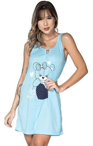 Imagem 1 de 3 de Camisola De Malha Feminina Estampada Conforto Melhor Preço