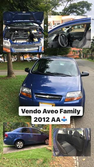 Aveo Family 2012, Azul, 4 Puertas, Cc1.6