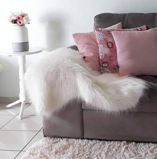 Manta Pelego Decorativo 80x50 Diversas Cores Cadeiras Sofá