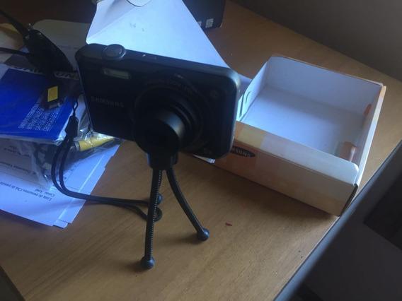 Câmera Digital Samsung Es65 10.2 Mp 5x Zoom 27mm Cor Preta