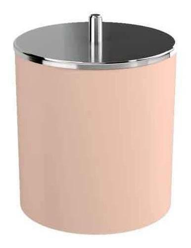 Lixeira Com Tampa Basc Rosa Blush Aço Inox Com 5,4 L  Coza